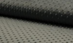 donker grijs minky noppenfleece
