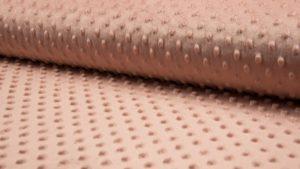 poeder roze (salmon) minky noppenfleece