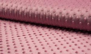 oud roze minky noppenfleece