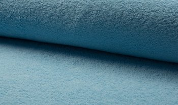 nog 1,3mtr - licht blauw badstof dubbelgelust (op=op)