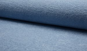 vintage blauw badstof dubbelgelust