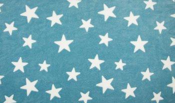 blauw (turquoise) wit sterren Knuffel fleece (op=op)