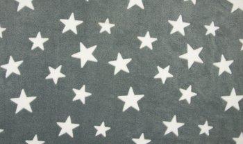 grijs wit sterren Knuffel fleece
