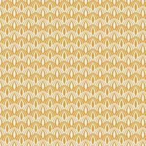 geel (oker) wit lotusbloem - retrootjes (op=op)