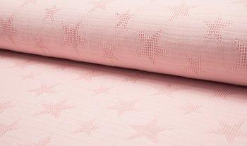 poeder roze wafel jacquard ster