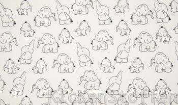 wit (ecru) zwart olifant - tricot