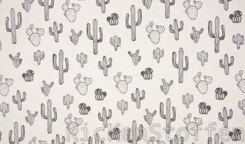 wit (ecru) zwart cactus - tricot