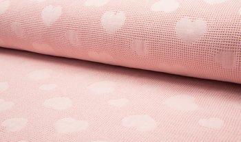 poeder roze wafel jacquard hart