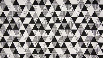 wit (ecru) zwart triangel strak - tricot
