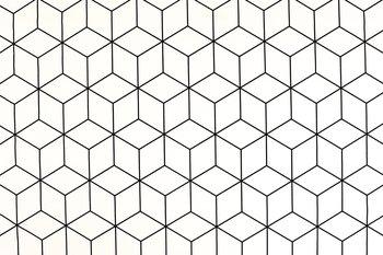 wit zwart Geometrisch rubiks   kubus Canvas