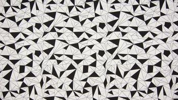 wit zwart origami triangels