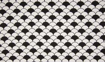 wit zwart schulp - halve dots
