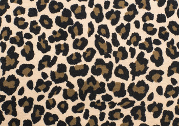 beige (rozig) zwart luipaard - tricot