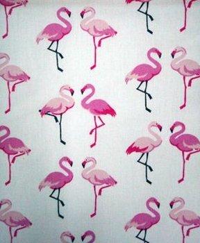 wit roze flamingo