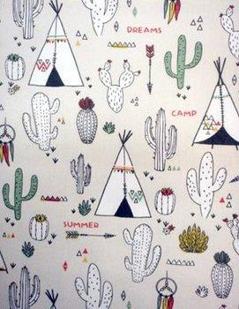 pastel kleurboek tipi & kaktus