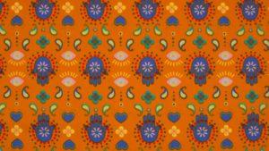 oranje blauw India handjes (op=op)