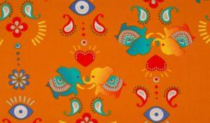 oranje blauw India olifanten (op=op)