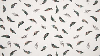 Wit poeder roze, grijs & groen veer - Yuma - tricot (op=op)