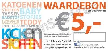 kadobon - waardebon - kadocheque 5 euro