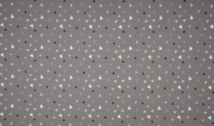 Grijs triangel roze wit zwart klein - tricot (op=op)