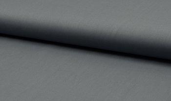 donker grijs uni katoen poplin (op=op)