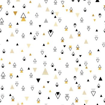 wit zwart geel grijs tipi triangels (op=op)