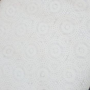 wit broderie katoenen voile retro rondjes (op=op)