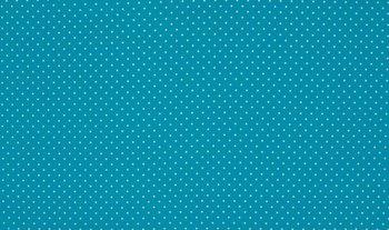 blauw aqua wit stipjes
