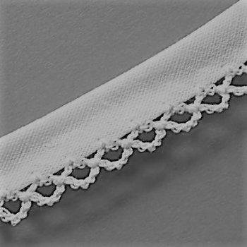 wit band met gehaakt randje