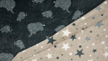 grijs olifant sterren dubbelzijdig Knuffel fleece
