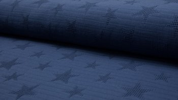 jeans blauw wafel jacquard ster