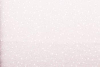 licht roze wit plusjes flanel (op=op)