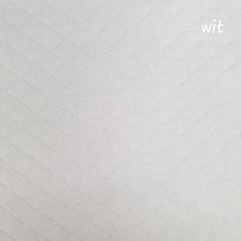 wit wafeltjes gevoerde tricot