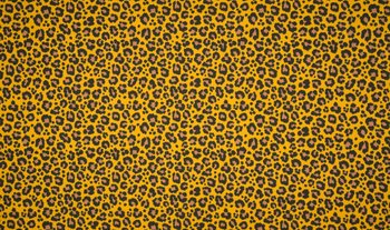 geel (oker) zwart bruin luipaard - tricot