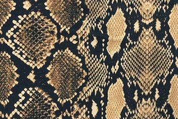 beige zwart wit slang python - tricot