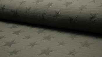 army groen wafel jacquard ster