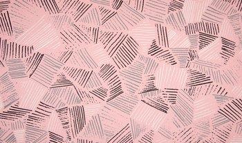 Roze met grijs wit zwart streepjes - tricot