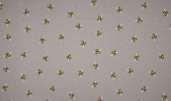 grijs geel bijtjes - tricot