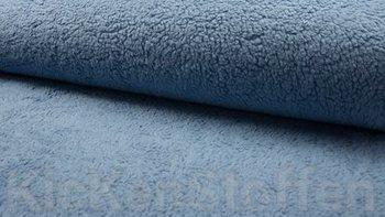 jeans / vintage blauw teddy katoen / fur / borg