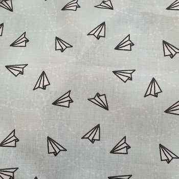 mint zwart origami vliegtuigjes
