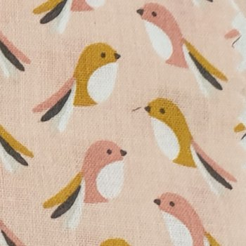 poeder roze geel oud roze vogeltjes