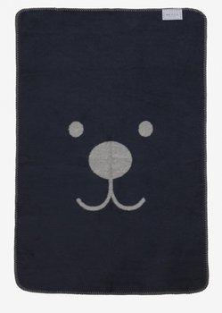 donker blauw grijs ledikant deken snuitje