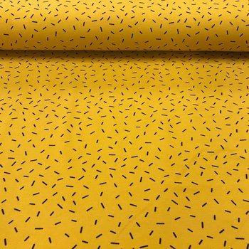 geel (oker) zwart hagelslag - tricot (op=op)