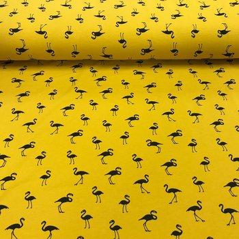 geel (oker) zwart flamingo - tricot (op=op)
