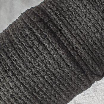 zwart gevlochten koord 6mm