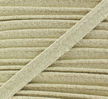 mat gold lurex piping 1cm