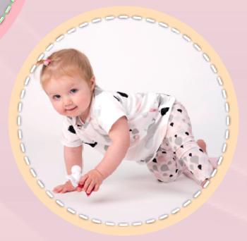 baby legging patroon maat 80 t/m 98