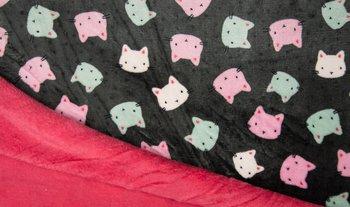 donker grijs roze mint poesjes dubbelzijdig Knuffel fleece