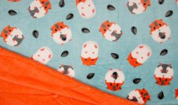 blauw (aqua) wit oranje hamster dubbelzijdig Knuffel fleece