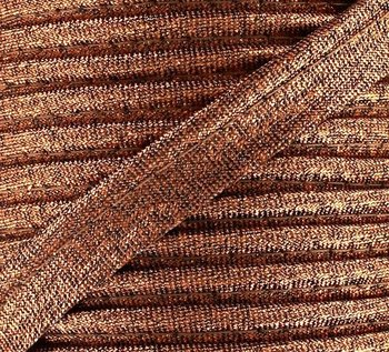 rol 25mtr - goud (rose - terracotta - koper) lurex paspelband - piping 1cm